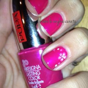 nail art fiore